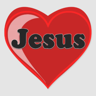 Love of Jesus Gifts Heart Sticker