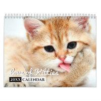 Love of Kitties Photo Wall Calendar 2021