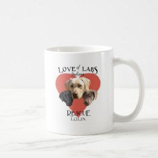Love of Labs White Cup Classic White Coffee Mug