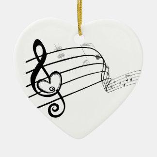 Love of Music Ceramic Ornament