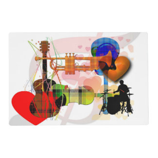 Love of Music - Musical Design Placemat