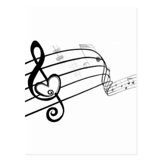 Love of Music Postcard