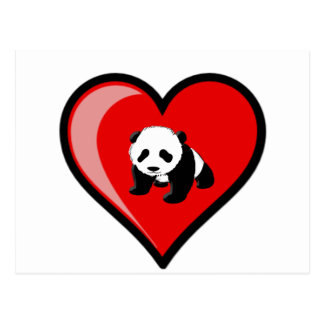 love of Panda Postcard