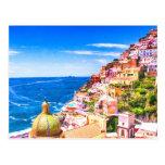 Love Of Positano Italy Postcard