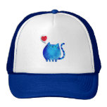 Love of The Blue Kitty Cat Mesh Hats