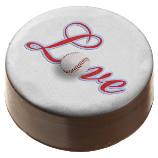 Love of the Game Baseball Theme Wedding Chocolate Covered Oreo
