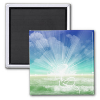 Love of the Ocean 2 Inch Square Magnet