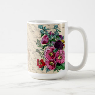 Love Of Vintage Flowers and Letters Coffee Mug