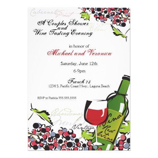 Love of Wine and Grape Invitation
