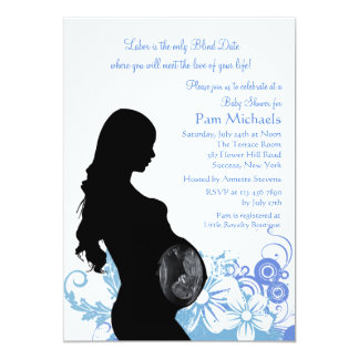 Love of Your Life Blue Baby Shower Invitation