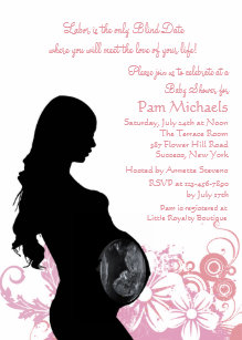 Pregnant silhouette invitations announcements zazzle love of your life pink baby shower invitation filmwisefo