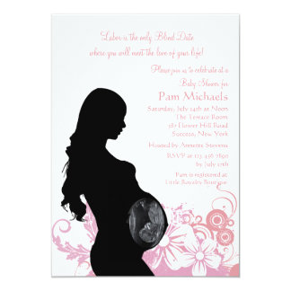 Love of Your Life Pink Baby Shower Invitation