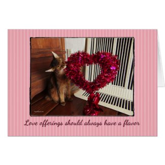 Love Offerings Somali Cat Card