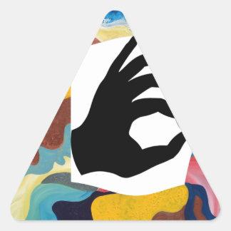 Love OK Triangle Sticker