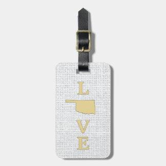LOVE Oklahoma State Map Bag Tag