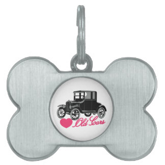 Love Old Cars Pet Tag