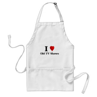 Love Old TV Shows Adult Apron