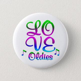 LOVE Oldies Pinback Button