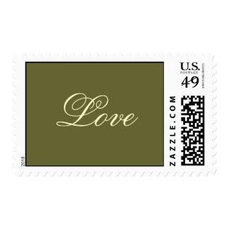 Love Olive Green Postage