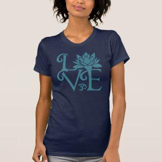 Love-Om-Namaste Racerback Teal & Dark Blue T-Shirt
