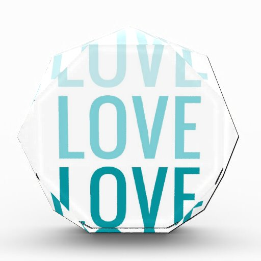 LOVE Ombre Turquoise Typography Awards
