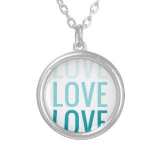 LOVE Ombre Turquoise Typography Custom Jewelry