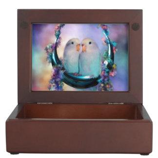 Love On A Moon Swing Art Keepsake Box