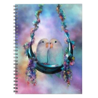 Love On A Moon Swing Notebook