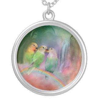 Love On A Rainbow Wearable Art Necklace
