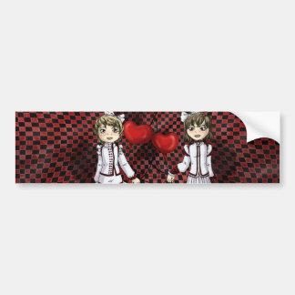 Love on a String Bumper Sticker