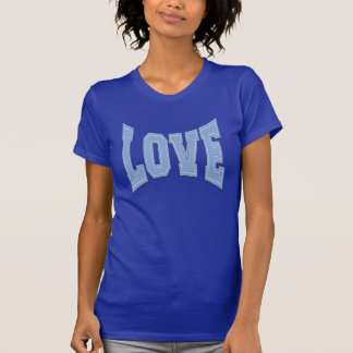LOVE ON Baby Blue Simple Love Just Love T-Shirt