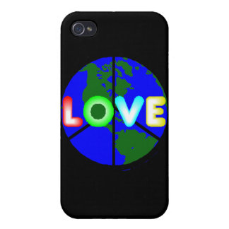 Love On Earth Peace Sign Iphone 4 Case