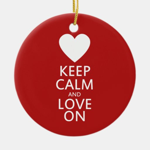 Love on for Valentines day Ceramic Ornament
