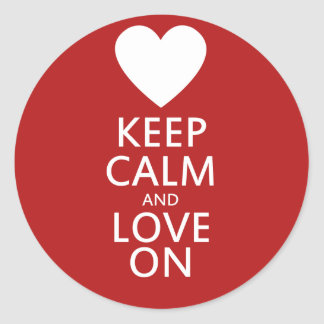 Love on for Valentines day Classic Round Sticker
