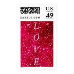 LOVE on hearts all over pattern by healing love Postage