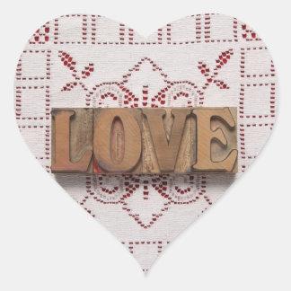 love on lace heart sticker