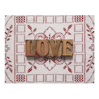 love on lace postcard