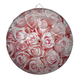 Love on light pink roses background by healinglove dartboard with darts