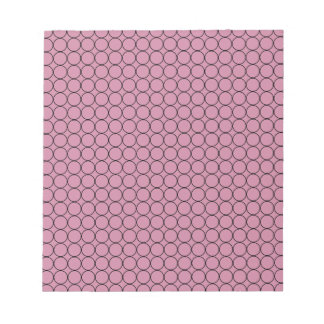 Love On Pink Background With Linked Rings Notepad