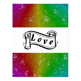 Love on Rainbow en elefante skin Laether óptica Postales