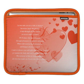 Love on Solid Ground iPad Sleeves