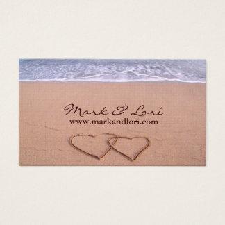 Love on the beach business card