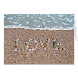 Love on the beach card