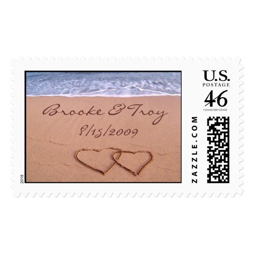 Love on the beach - Customized Postage Stamps