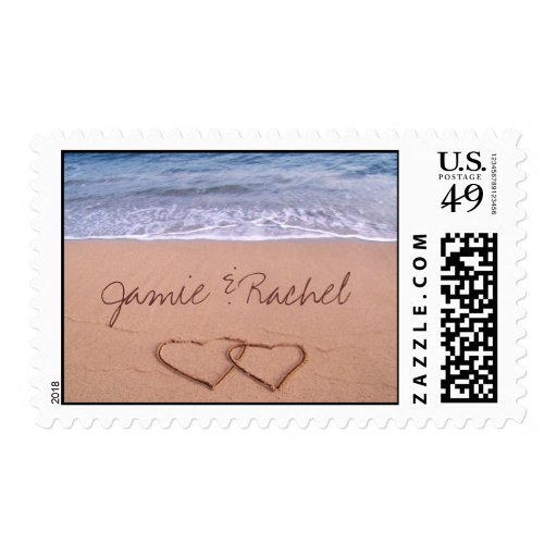 Love on the beach - Customized Stamp