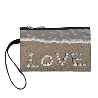 Love on the Beach in Seashells Coin Wallet