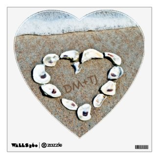 Love on the Beach Personalized Heart