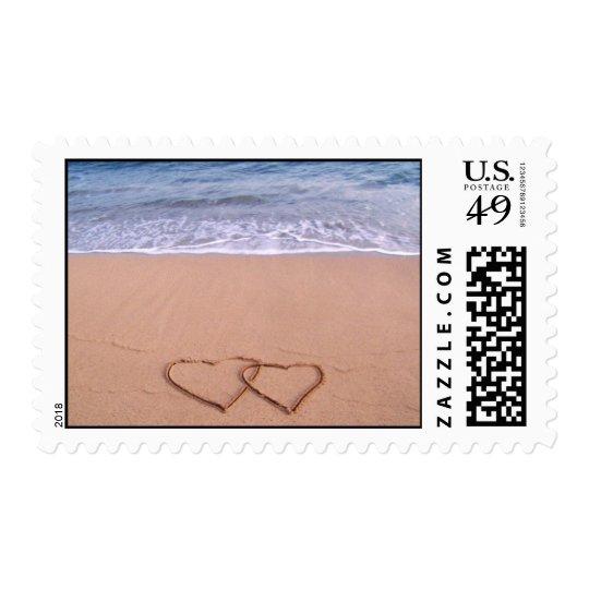 Love on the beach postage