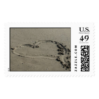 Love on the Beach Postage Stamp