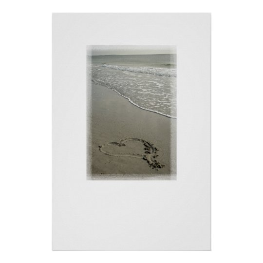 Love on the Beach Poster Print [with White Space]